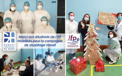 Merci aux étudiants de l'Institut de Formation Paramédicales (IFP) Mary Thieullent mobilisés pour la campagne de dépistage massif au Havre.